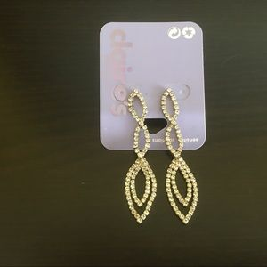 Earrings long rhinestones